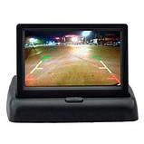 """Автомобильный раскладной монитор 5"""" дюймов SmartTech для камер заднего/переднего вида 2 видео входа, фото 4"""
