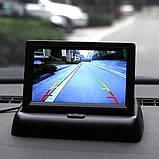 """Автомобильный раскладной монитор 5"""" дюймов SmartTech для камер заднего/переднего вида 2 видео входа, фото 6"""