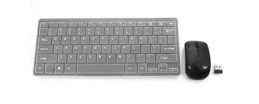 Беспроводная клавиатура и мышь mini keyboard БЕЛЫЙ, фото 2