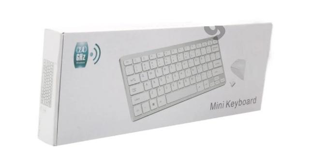 Беспроводная клавиатура и мышь mini keyboard БЕЛЫЙ