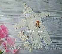 Человечек для крещения младенца (интерлок) - человечек, шапочка, топики, царапки