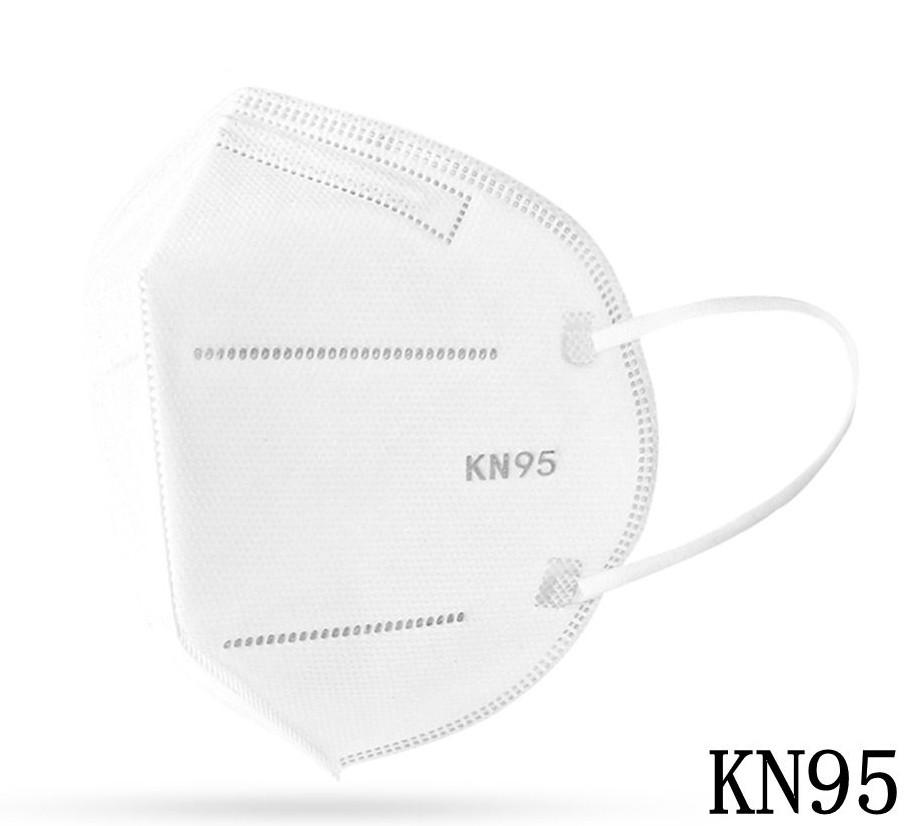 Респиратор маска пятислойная многоразовая KN95 (FFP2), белая (2шт) (XK02-001)