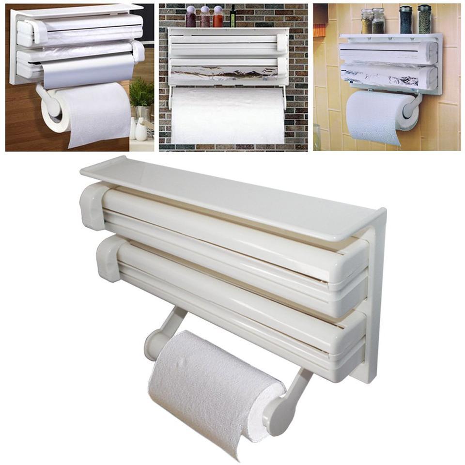 Triple Paper Dispenser Кухонний диспенсер для паперових рушників, харчової плівки і фольги