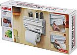 Triple Paper Dispenser Кухонний диспенсер для паперових рушників, харчової плівки і фольги, фото 7