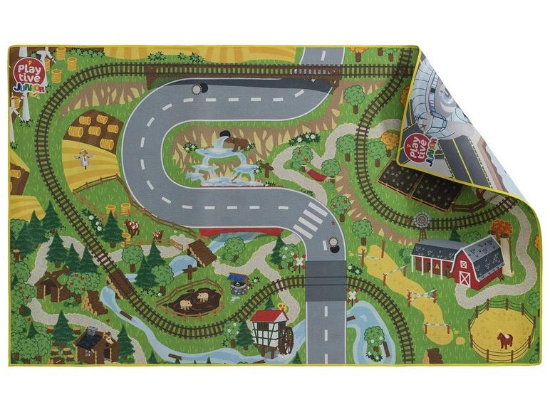 """Двосторонній ігровий килимок """"Місто-Село"""" для  дерев'яної залізниці  PlayTive Junior"""