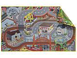"""Двосторонній ігровий килимок """"Місто-Село"""" для  дерев'яної залізниці  PlayTive Junior, фото 2"""