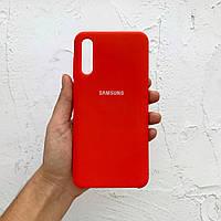 Чехол на Samsung Galaxy A50 Silicone Case красный силиконовый / для Самсунг Гелекси А50