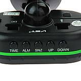 Часы автомобильные VST-7009V с индикацией заряда АКБ (Вольтметр), и двумя термо датчиками (3803), фото 2