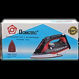 Праска Domotec MS 2202 2200W керамічна підошва Red (4212), фото 4