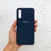 Чехол на Samsung Galaxy A50 Silicone Case синий силиконовый / для Самсунг Гелекси А50