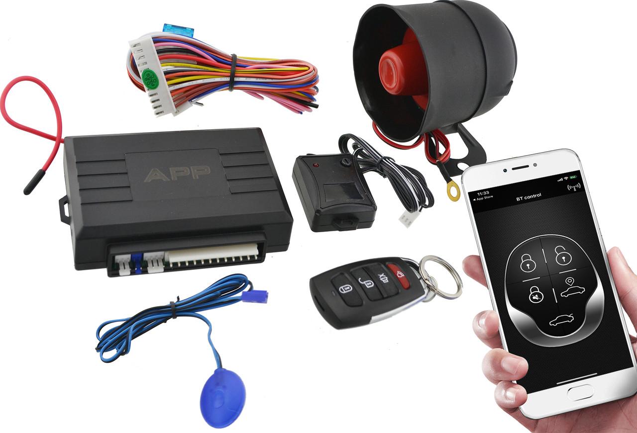 Універсальна автомобільна сигналізація Car Alarm 2 Way KD 3000 APP з сиреною (5544)
