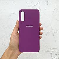 Чехол на Samsung Galaxy A50 Silicone Case сиреневый силиконовый / для Самсунг Гелекси А50