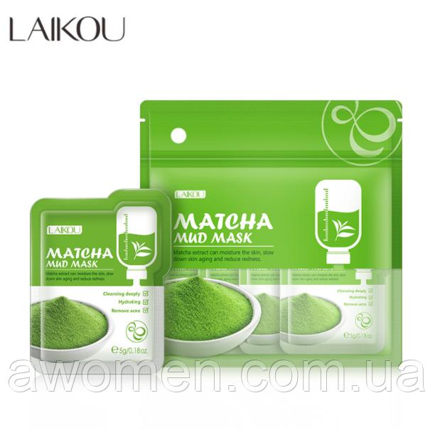Набор масок Laikou Matcha с японским чаем маття 5 g (12 штук упаковка)