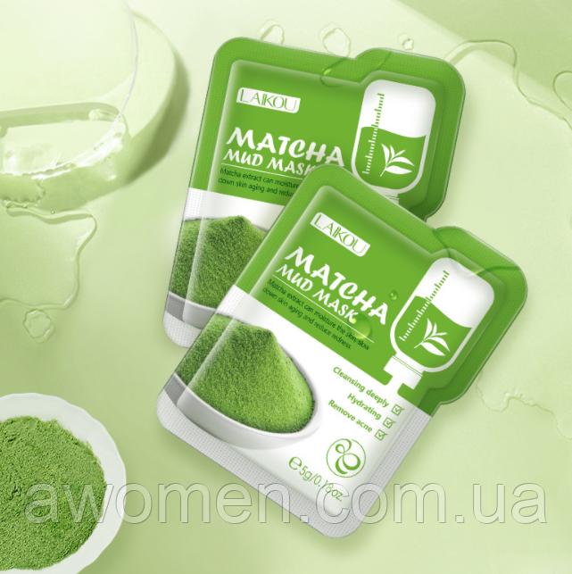 Маска для лица Laikou Matcha с японским чаем маття 5 g (1 штука)