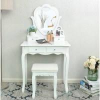 Туалетный столик с зеркалом и стулом Серце