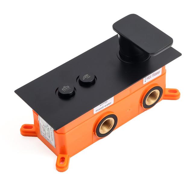 Змішувач прихованого монтажу для душового набору BSKV-13 з кнопковим перемикачем на 2 положення.
