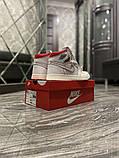 Женские кроссовки Nike Air Jordan 1 Retro White Red, фото 2