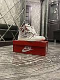 Женские кроссовки Nike Air Jordan 1 Retro White Red, фото 3