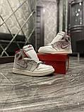 Женские кроссовки Nike Air Jordan 1 Retro White Red, фото 4
