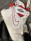 Женские кроссовки Nike Air Jordan 1 Retro White Red, фото 5