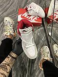 Женские кроссовки Nike Air Jordan 1 Retro White Red, фото 6