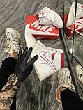 Женские кроссовки Nike Air Jordan 1 Retro White Red, фото 7