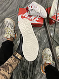 Женские кроссовки Nike Air Jordan 1 Retro White Red, фото 8