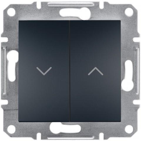 Выключатель для жалюзи цвет антрацит Asfora EPH1300171