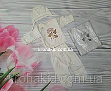 Костюм для крещения младенца (интерлок) - штанишки, рубашка, шапочка,