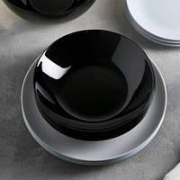 Черная суповая тарелка Luminarc Diwali Black 20 см (P0787)