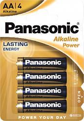 Батарейки Panasonic Alkaline Power щелочные AA блистер, 4 шт
