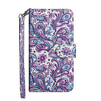 Чохол-книжка Color Book для Samsung Galaxy A21 A215 Кольорові візерунки
