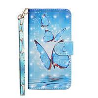 Чехол-книжка Color Book для Samsung Galaxy A21 A215 Бабочки