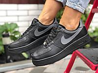 Женские зимние кроссовки Nike Air Force  Пресс  кожа