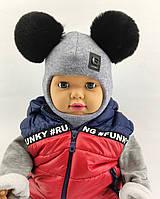 Шапка шлем детская 48 50 52 размер шапки ангора головные уборы детские, фото 1