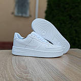 Женские кроссовки Nike Air Force 1 Белые, фото 3