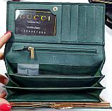 Женский бордовый кошелек Chanel из натуральной кожи на магните, фото 2