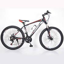 Гірський спортивний велосипед S200 HAMMER чорно червоний 26 дюймів