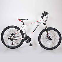 Гірський спортивний велосипед S200 HAMMER біло червоний 26 дюймів