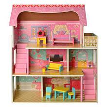 Домик игрушка 2203 деревянный с мебелью