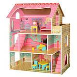 Домик игрушка 2203 деревянный с мебелью, фото 4
