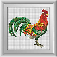 Алмазная мозаика Петушок Dream Art 30152 33x33см 19 цветов, квадр.стразы, полная зашивка, фото 1
