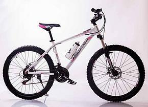 Гірський спортивний велосипед S200 HAMMER біло-рожевий 26 дюймів