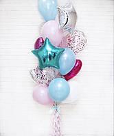 """Готовый набор шаров с гелием №7 """"Для нежной, смелой и активной красотки"""""""