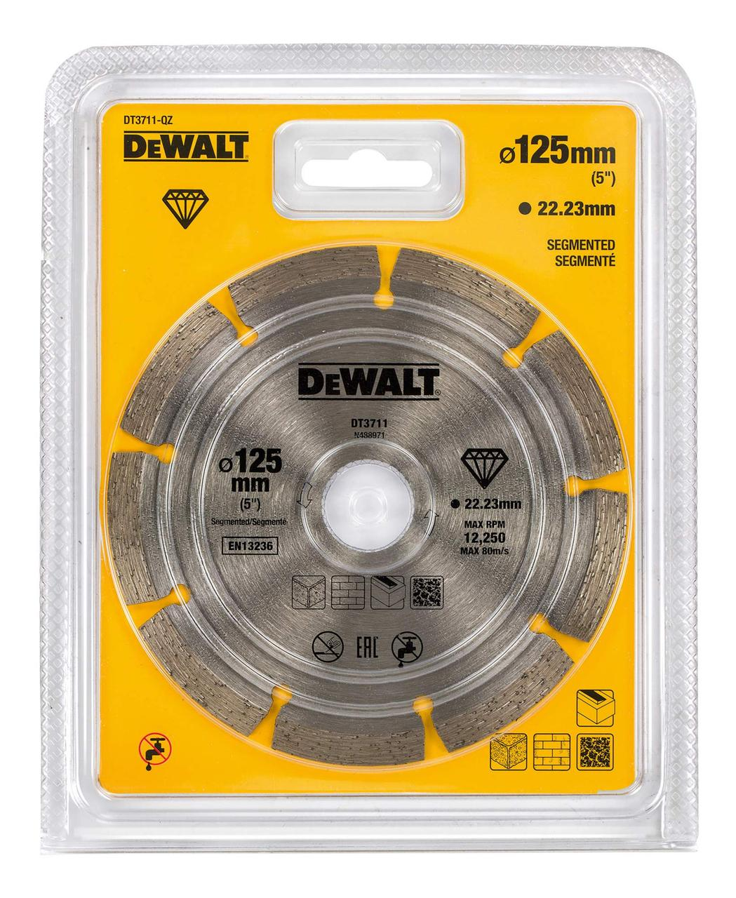 Диск алмазный 125 мм DeWALT (DT3711)