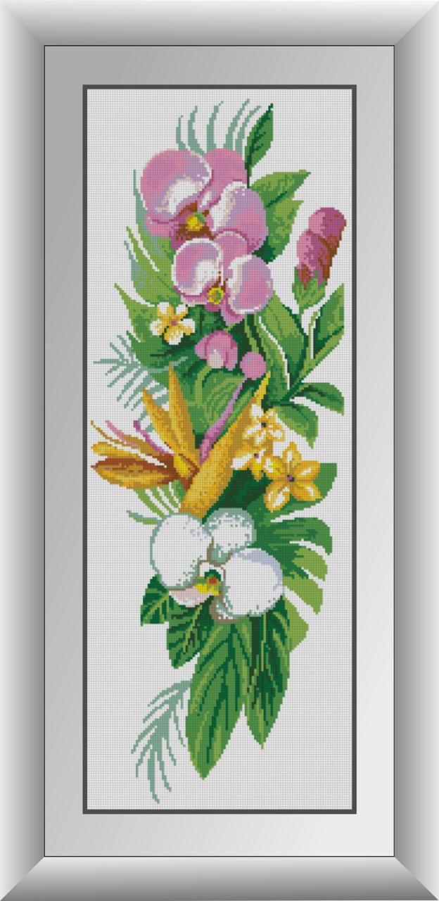 Алмазная мозаика Букет орхидей Dream Art 30193 28x76см 20 цветов, квадр.стразы, полная зашивка