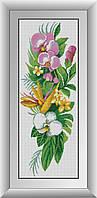 Алмазная мозаика Букет орхидей Dream Art 30193 28x76см 20 цветов, квадр.стразы, полная зашивка, фото 1