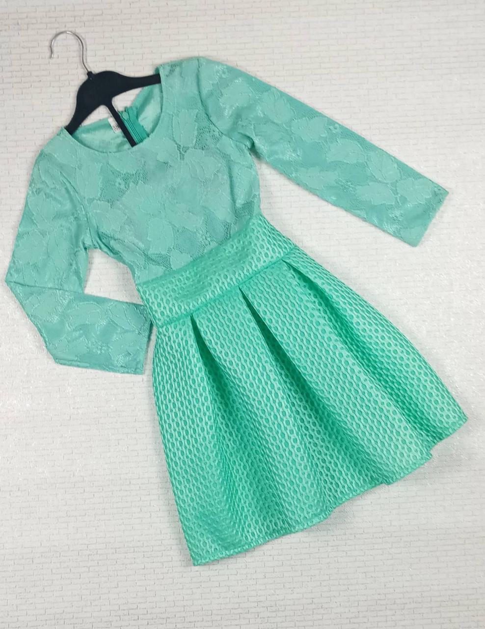 Бірюзове плаття для дівчинки . На ріст 128 см . Україна