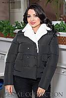 Стильна жіноча куртка зимова ПК1-379 р. 44-54, фото 1