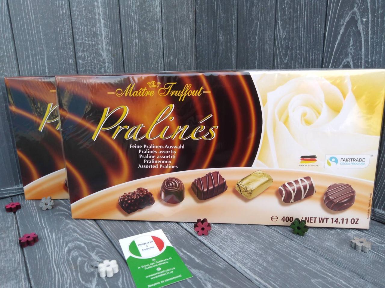 Шоколадні цукерки Pralines Maitre Truffout